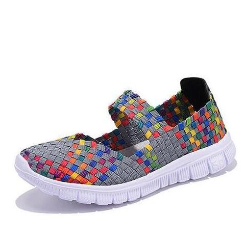 Women Shoes 2018 Summer Breathable Handmade Shoes women Fashion Comfortable Woven Casual Shoes Sandals