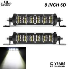 Со светом 8 дюймов 6D светодиодные рабочие лампы 36 Вт авто дальнего света ближний свет комбо для 4×4 грузовики джип трактор ATV светодиодные панели