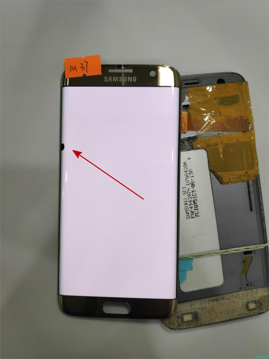NO M37 for Samsung Galaxy S7 edge G935F G935FD Defect Spot Lcd display touch screen Digitizer