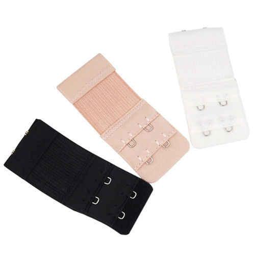 مفيدة البرازيلي أسود أبيض تمديد حزام تمديد 2 السنانير 2 صفوف حزام قابل للضبط مشبك زر اكسسوارات السيدات امرأة