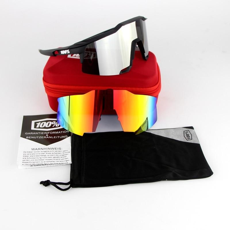 Prix pour 100% Speedcraft Moto Goggle vélo Lunettes BMX lunettes de Soleil avec 2 Lentille EVA Lunettes Boîtes YH08