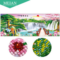 Meian Special Shaped Diamond Embroidery Scenic Rich 5D Diamond Painting Cross Stitch 3D Diamond Mosaic Decoration