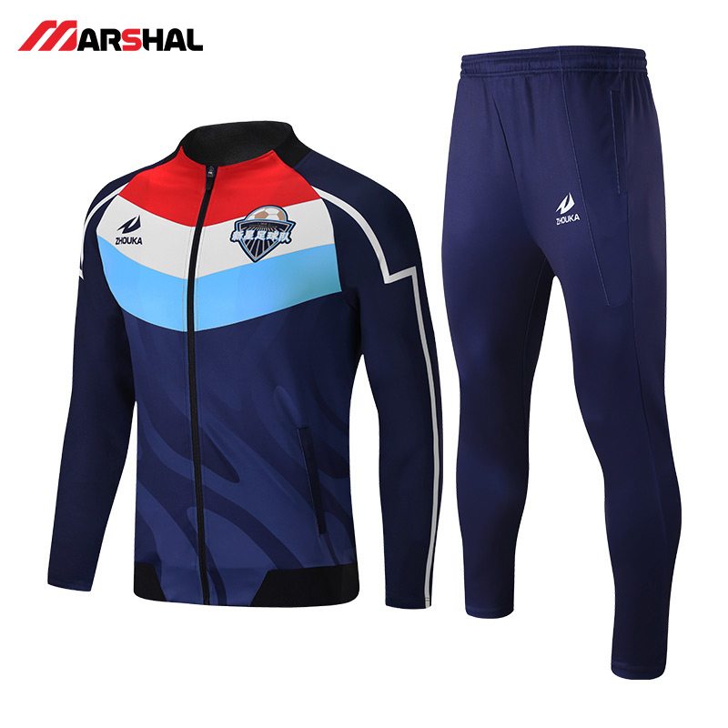 Custom sports club team football tracksuit training design on line custom tracksuits man or women customization Soccer jacket in Soccer Sets from Sports Entertainment