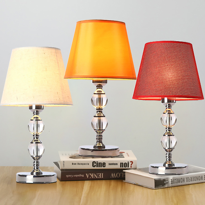 Modern Crystal Table Lamp living room bedroom Yellow / Beige / Red decoration table light Modern Crystal Table Lamp living room bedroom Yellow / Beige / Red decoration table light