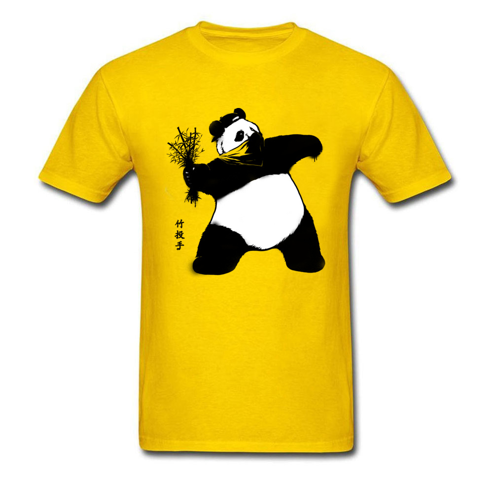 Bamboo Thrower T Shirt Cheap Crewneck Simple Style Short Sleeve 100% Cotton Adult T Shirts Printing Tee-Shirts Bamboo Thrower yellow
