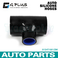 """2 1/2"""" To 2 1/2"""" T Piece Silicone Hose 63mm To 63mm T Shape Tube Pipe for 35mm ID BOV Black"""