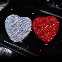 Car styling Bling Car Air Freshener Crystal Heart Shape Car Perfumes Original Women parfum flavoring in the car
