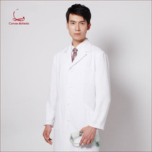 Laboratory wear plastic surgeons hospital white coat long sleeve doctor overalls male