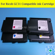 BEST  Compatible ink cartridge for RicohGC31 GXE3300/GXE5500/GXE2600/GXE5050N/GXE5550N printer with  ARC chip maintenance chip for ricoh gc31 one time chip for ricoh gxe5050n gxe5500 gx e2600 gxe3300 gxe3300n gxe3350 free shipping