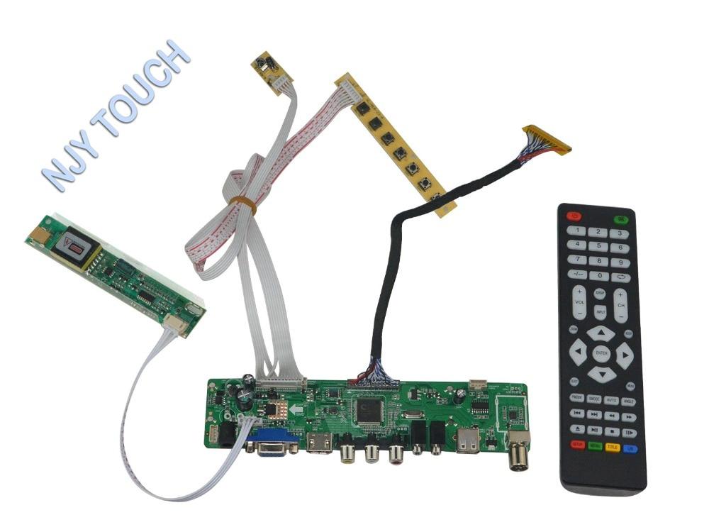 LA.MV56U.A New Universal HDMI USB AV VGA ATV PC LCD Controller Board for 17inch 1440x900 B170PW06 CCFL LVDS Monitor Kit
