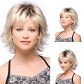 Fashion Sexy Synthetic Curly Wavy Cosplay Full Wig Women Short Hair Wig Girl Gift
