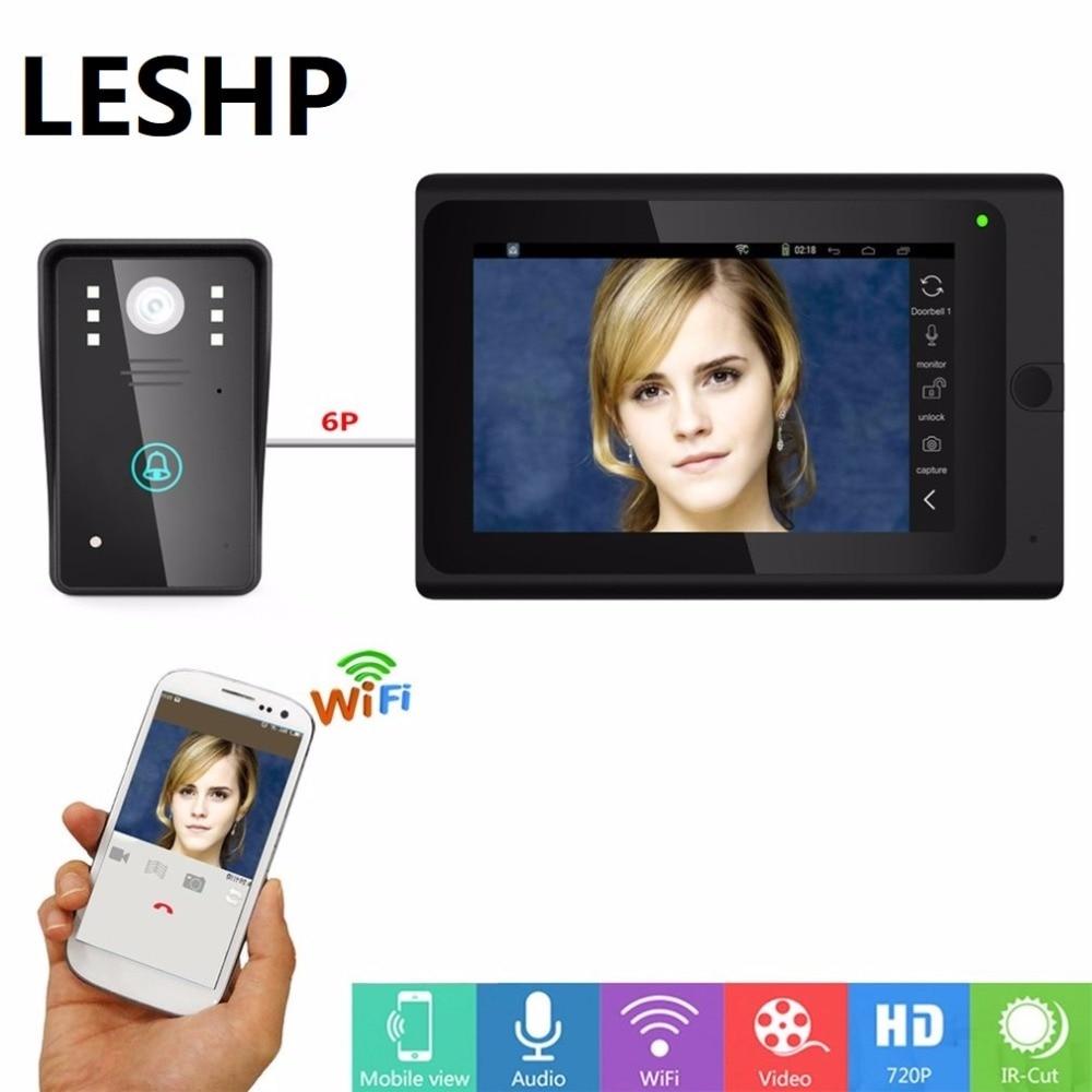 Видео дверь домофон запись Системы HD монитор с Поддержка Запись снимок Ночное видение WI FI подключить 8 Приложение пользователя
