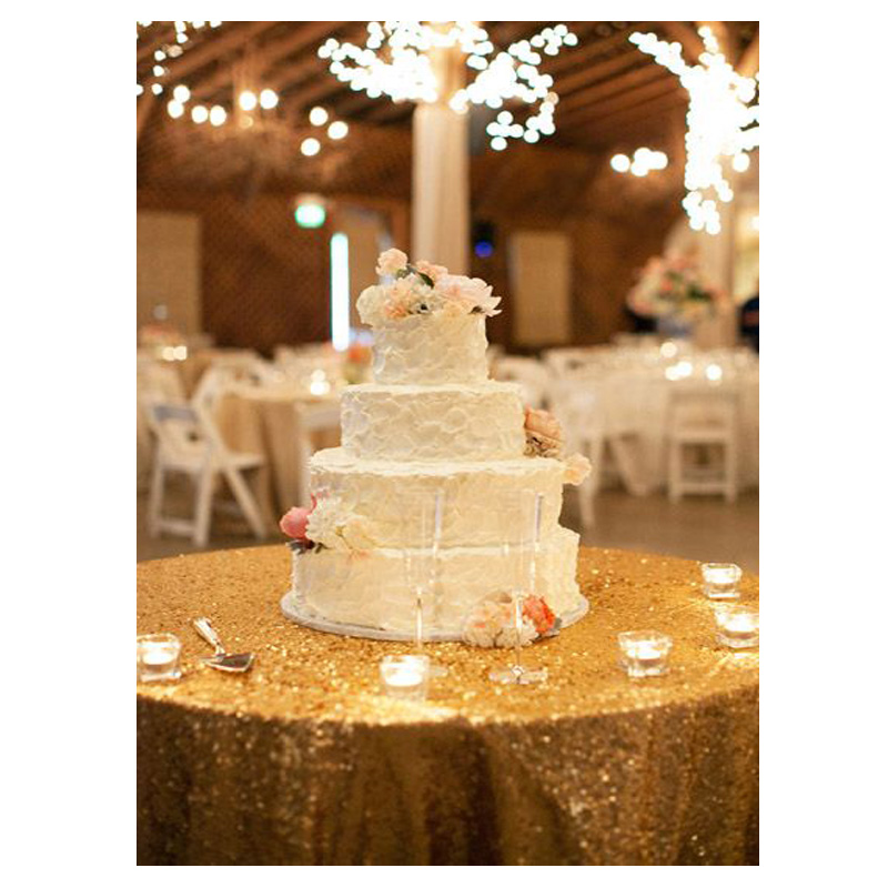 Factory Directly Ing High End 96 Round Sparkly Gold Sequin Tablecloth For Christmas Wedding Table Decoration In Tablecloths From Home Garden On