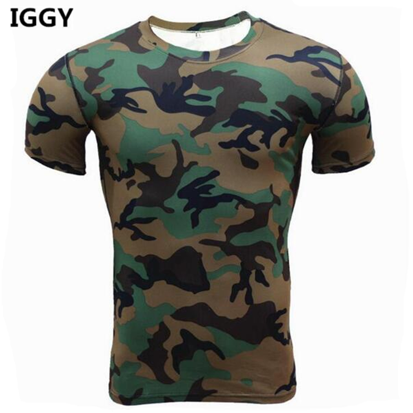 Iggy brand new tshirt men guick dry 2016 summer camo top for Camouflage t shirt design