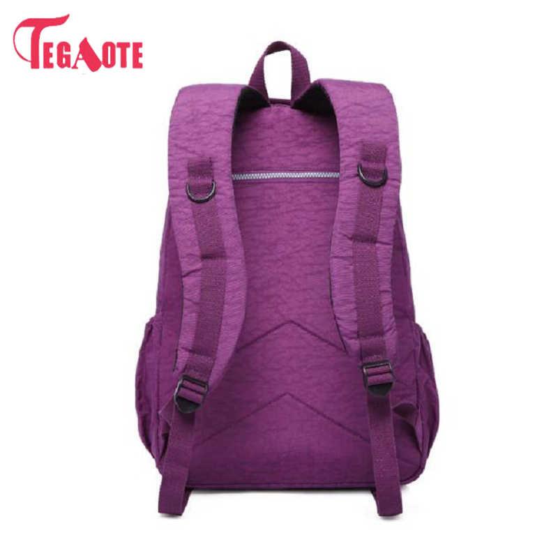 Mochila escolar TEGAOTE para chica adolescente Mochila femenina mochilas de nailon impermeable Casual para ordenador portátil bolsa para mujer