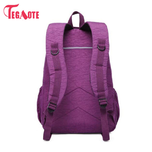 Image 3 - TEGAOTE szkoły plecak dla nastolatki Mochila Feminina kobiety plecaki Nylon wodoodporna dorywczo plecak na laptopa kobiet Sac A Do