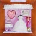 13604 Сладкий свадьба хонгда поделки кукольный домик миниатюрный деревянный кукольный домик Оптовая миниатюры для украшения