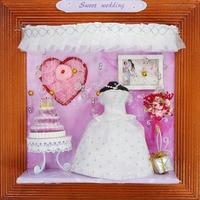 13604 Doce de casamento hongda diy miniaturas para decoração de casa de bonecas em miniatura casa de boneca de madeira Por Atacado