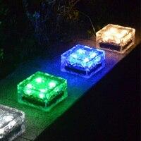 1Leds 4Leds Solar LED Underground Lights Solar LED Deck Light Outdoor Garden Landscape Lawn Lamp Solar