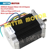 2 phase Nema23 bipolar stepper motor 83mm 180N.m270 Oz in 3A 0.9 degree 4 wires for 3D printer parts 23HM1430