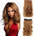 """Pop 23 """"120 г 5 Клипов В Волосах расширения синтетический клип в наращивание волос длинные Вьющиеся женщины волосы кусок,-русый hairextension"""