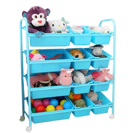 Support de rangement de jouets pour enfants support de finition de jouets multi-couche avec rouleau support de jouets pour bébé armoire de rangement de jouets boîte de rangement