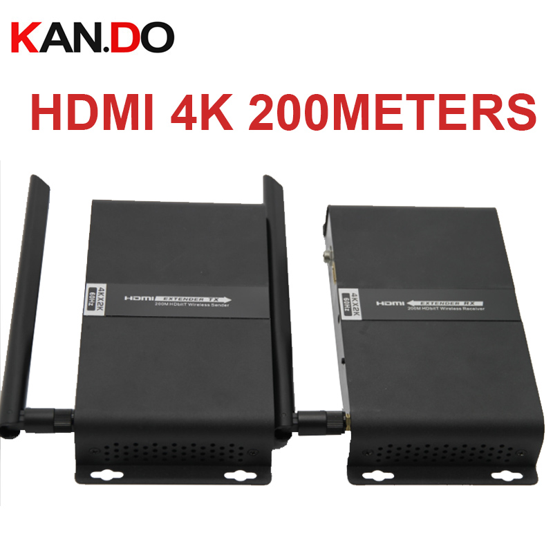 4K 60Hz 5.8G Wireless AV HDMI HDbitT Transmitter Receiver Kit Max 200M Wireless Extender 4k Video Transmitter Receiver For HDMI