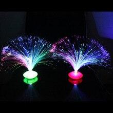 1 pçs bela cor romântica mudando led de fibra óptica nightlight lâmpada pequena noite luz chrismas festa decoração para casa