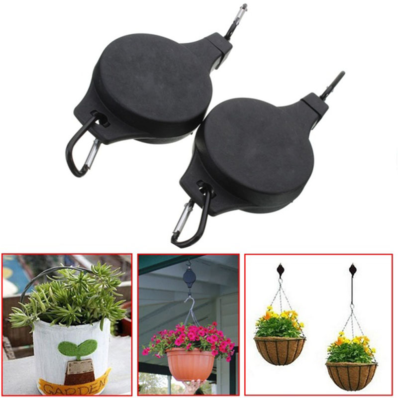 4Pcs High Quality Retractable Basket Hanging Pull Down Hanger Pulley Garden  Plant Pot Practical Hooks In Hooks U0026 Rails From Home U0026 Garden On  Aliexpress.com ...