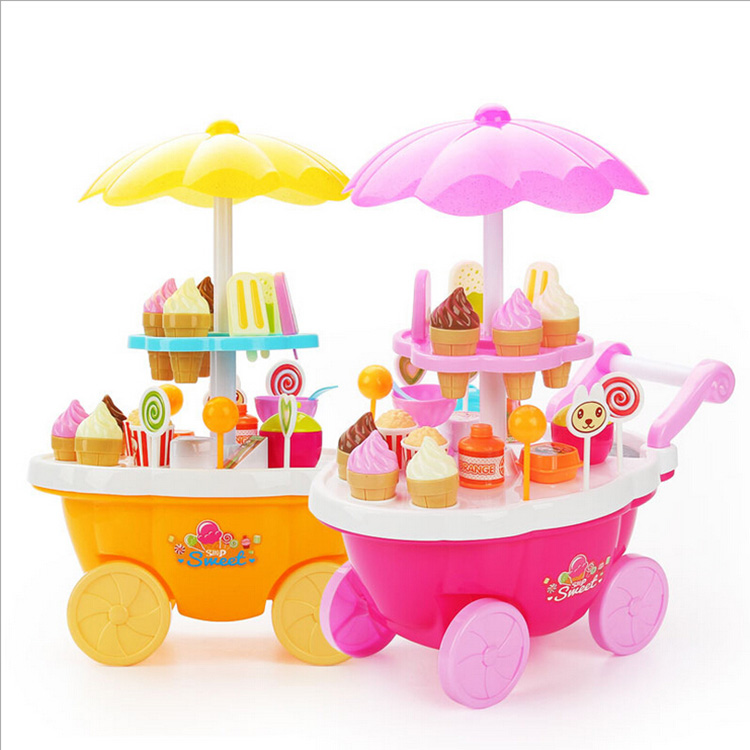 Children Pretend Play Candy Shop Cart Toy With Lighting Battery ...