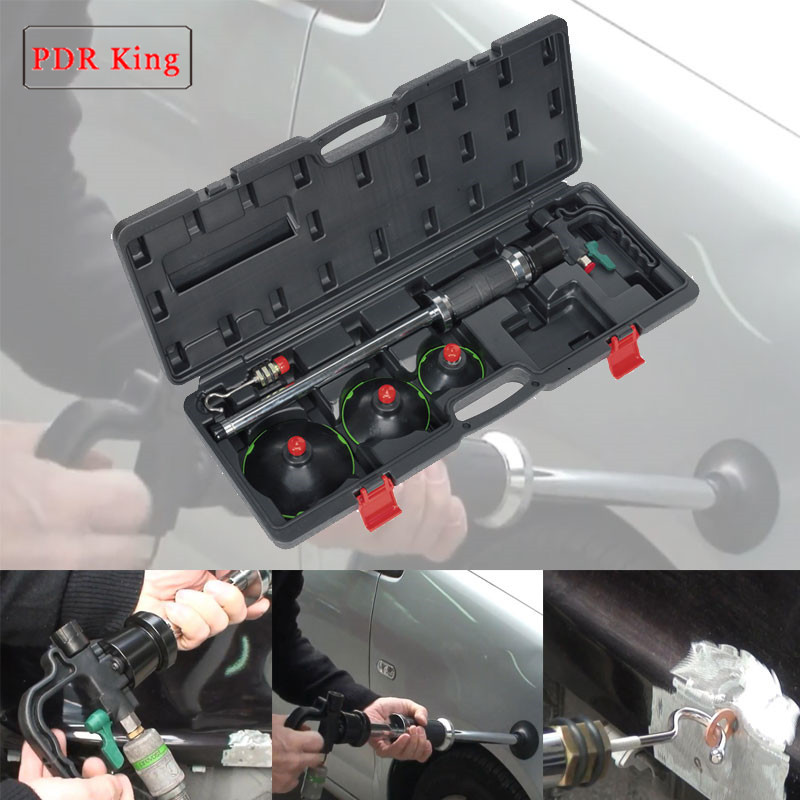 3 size Air Pneumatic Dent Puller Car Auto Body Repair Suction Cup Slide Hammer Tool Kit