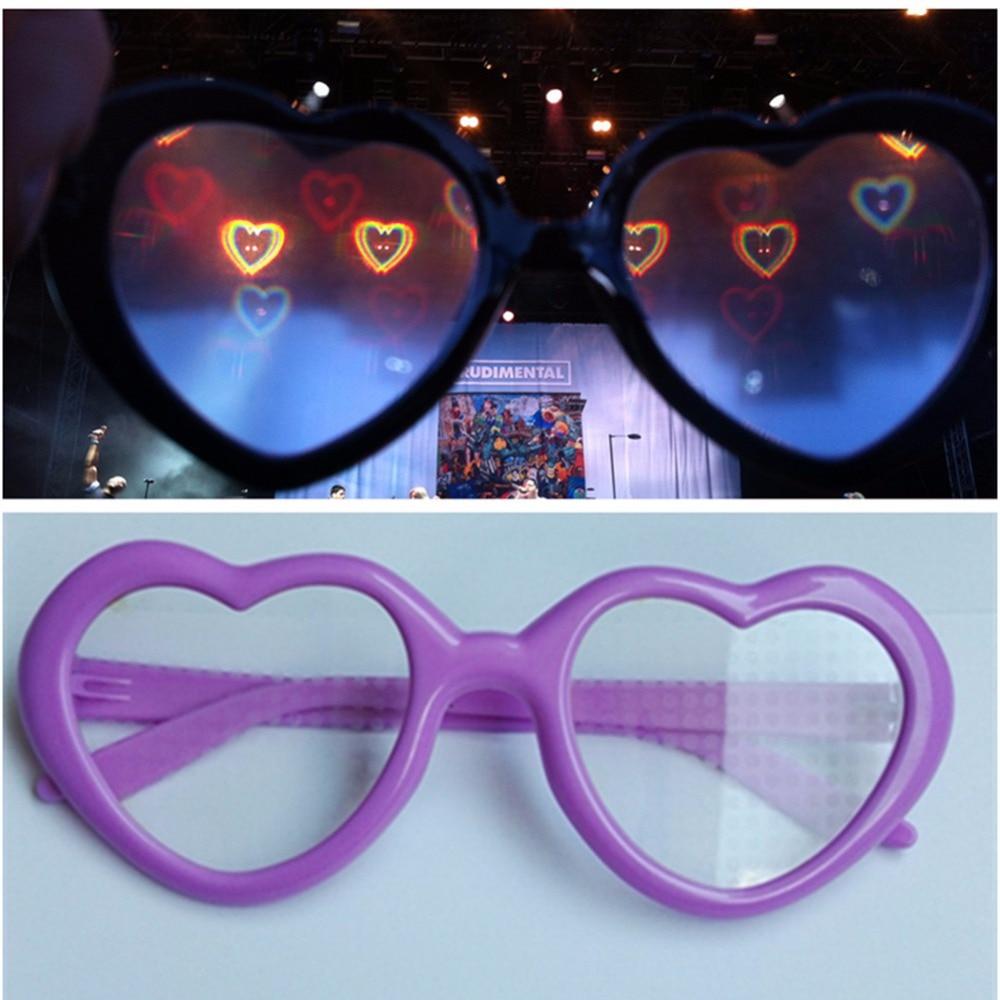 c36431b01 20pcs Packs Rainbow Hearts Fireworks Diffraction Glasses Heart Shaped Light  Plastic 3D Rave Prisms EDM Rainbow Glasses Heart-in 3D Glasses/ Virtual  Reality ...