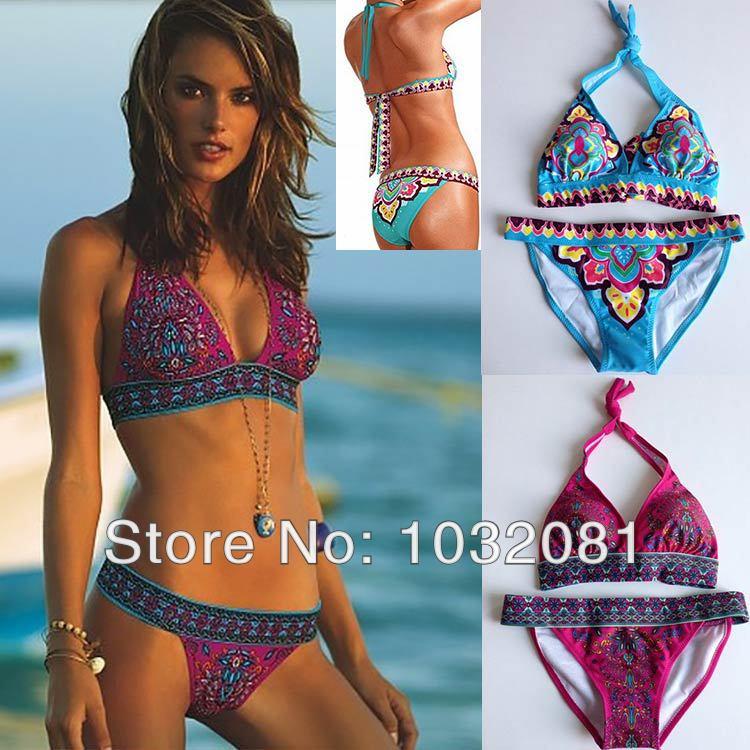 With De Us6 Bikini Top Badeanzug Boho Maillot 8015 Bohemian Print On Paisley Swimsuit Bain 2014 Triangle Swimwear 49vs Biquini P Flower ZikPXu