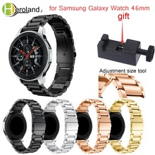 22mm Watch Strap Stainless Steel For Samsung Galaxy Watch 46mm Metal Watchband For Samsung Gear S3 Classic Frontier Watchstraps