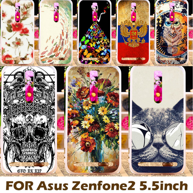 Akabeila Cover for Asus Z00AD Case For Asus Zenfone 2 ZE551ML Zenfone2 ZE550ML Coque Capa Hard Plastic & Soft Silicon Paint Case