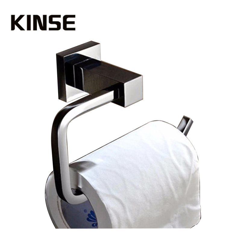 brass toilet paper holder chrome bathroom toilet roll holder for paper towel square bathroom accessories
