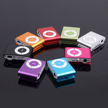 Wholesale Portable Mini Metal MP3 Player Sport music player Clip With Cable/USB Music players earphone accessories