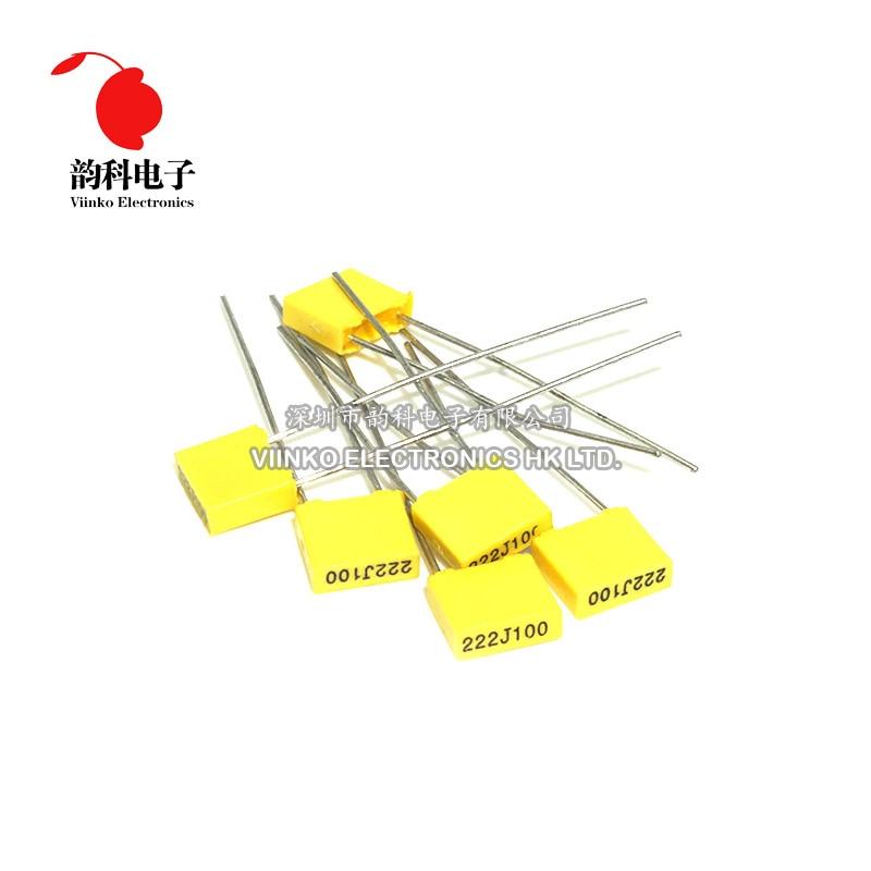 20pcs Filme Plástico de Segurança em Polipropileno 100V 1nF ~ 470nF 1nf 0.47uf 22nf 47nf 0.1uf 10nf 100nf 220nf capacitor De Correção