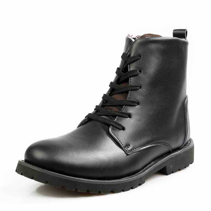 2014 Designer Men Boots 100% Genuine Leather Winter Black And ...