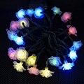 16.4ft 20 Tira de LED Luz Solar Flor Solar Fiesta de Navidad de la Decoración de La Boda de Hadas Luces de Cadena Impermeable Al Aire Libre Lanterna