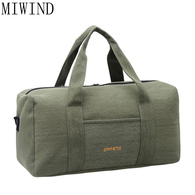 MIWIND Travel Bag Large Capacity Men Hand Luggage Travel Duffle Bags Canvas Weekend Bags Multifunctional Travel Bags TRH022