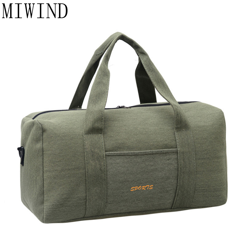 MIWIND Travel Bag Large Capacity Men Hand Luggage Travel Duffle Bags Canvas Weekend Bags Multifunctional Travel Bags TRH022