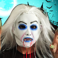 Zombie Mask Halloween Props Mascaras Terror Horror Masks Realistic Masque Long Hair Ghost Scary Masker