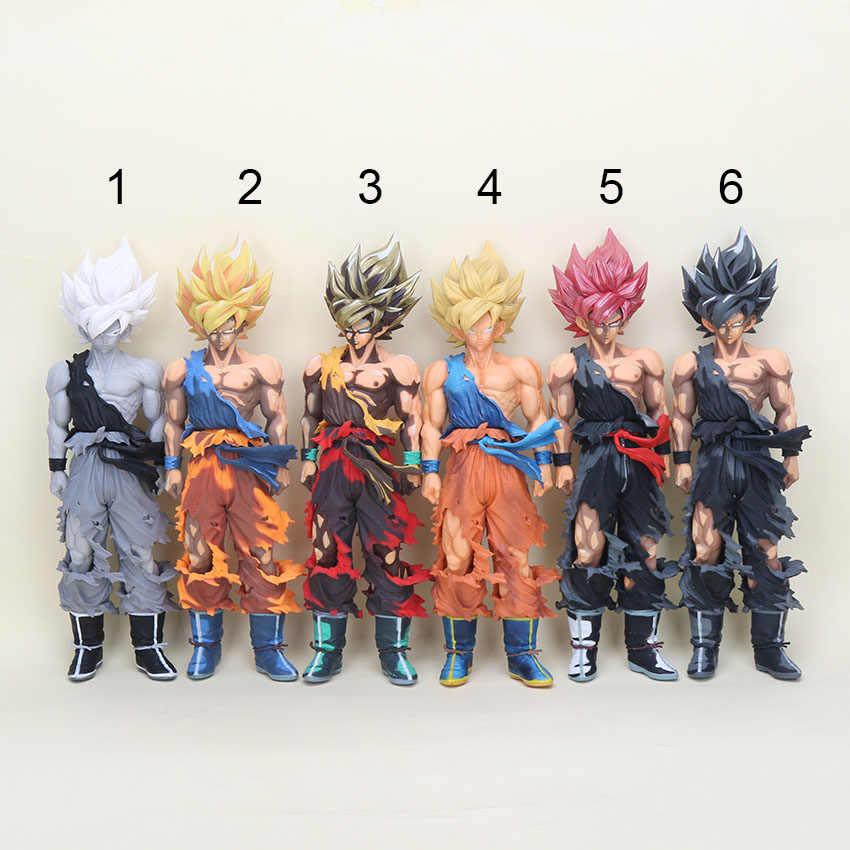 34 cm Bola Dragão Dragonball DragonBall GOKU MSP Super Saiya Colorido ver. PVC Action Figure Collectible Modelo Toy