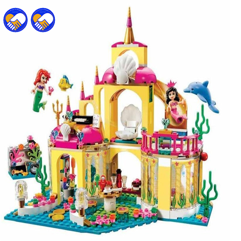 A toy A dream SY374 JG306 400Pcs Princess Undersea Palace Model Building Kits Blocks Bricks Girl