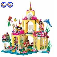 A toy A dream SY374 JG306 400Pcs Princess Undersea Palace Model Building Kits Blocks Bricks Girl