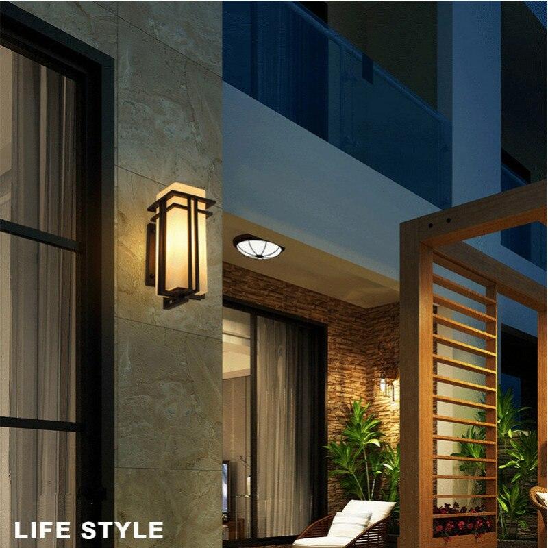 LED Outdoor Wall Lamp Modern Creative IP65 Waterproof Courtyard Wall Lamp Balcony Aisle Villa Door Column Lamp - 6