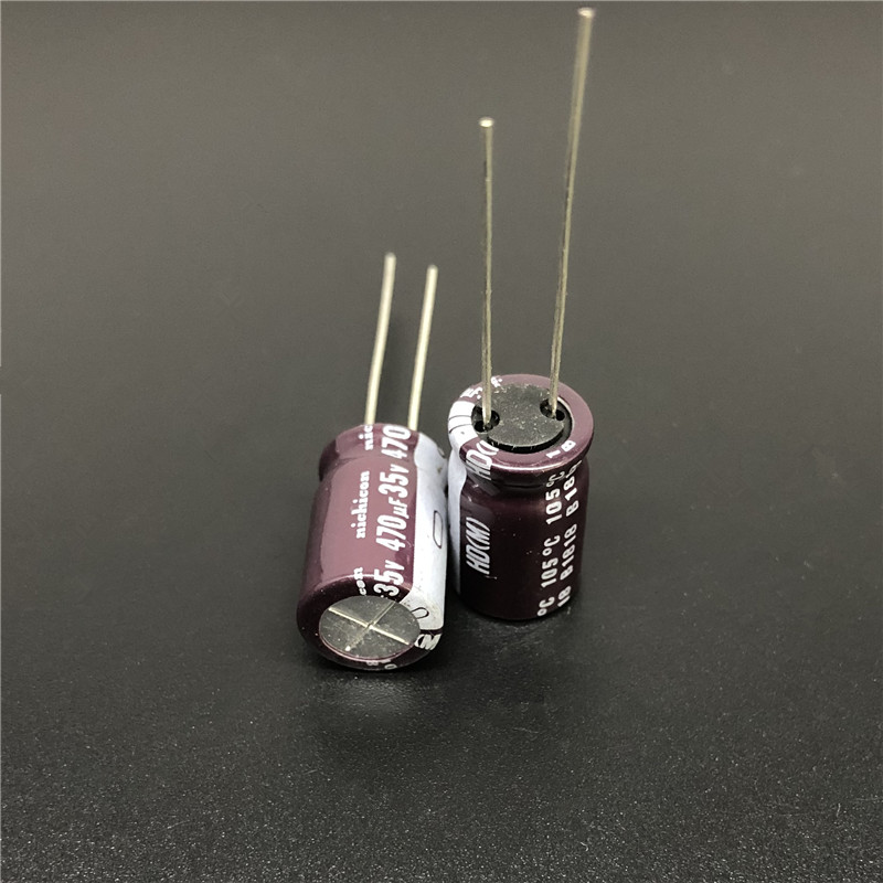 10Pcs/100Pcs 470uF 35V NICHICON HD Series 10x16mm Super Low Impedance 35V470uF Aluminum Electrolytic Capacitor
