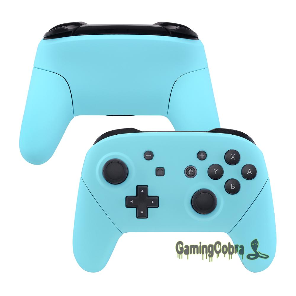 Buy Soft Touch Heaven Blue Faceplate Backplate Housing Shell Cover Handles Replacement for Nintendo Switch Pro Controller for only 33.99 USD