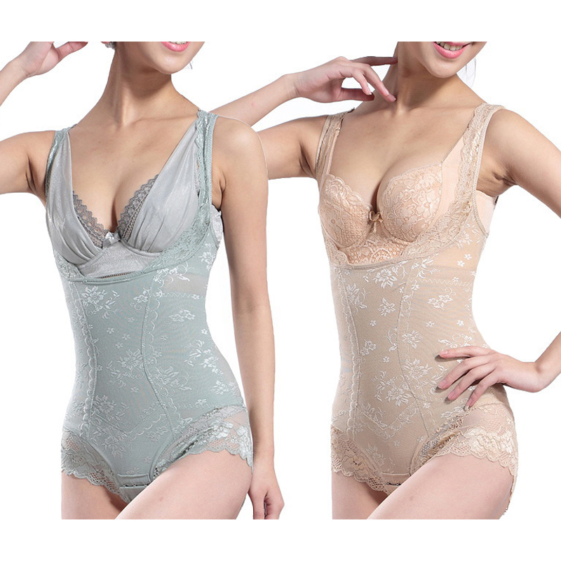 a59bb5e173 2Pcs Women s Tummy Control Underbusts Shapewears Body Shapers Waist ...